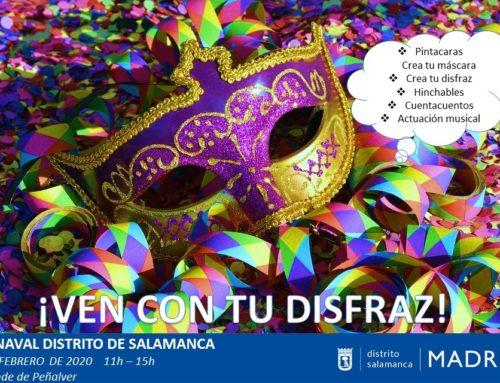 Jornada lúdica infantil  de Carnaval en el Distrito de Salamanca