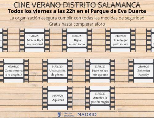 CINE DE VERANO 2020 DISTRITO DE SALAMANCA