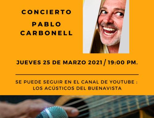 Pablo Carbonell en Los Acústicos del Buenavista