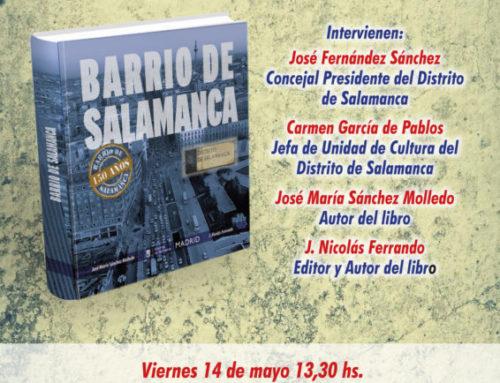 Presentación del libro Barrio de Salamanca